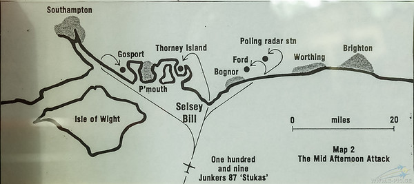 Map 2 of 3 show the Luftwaffe attacks of the South and South East England on sunday august 18, 1940