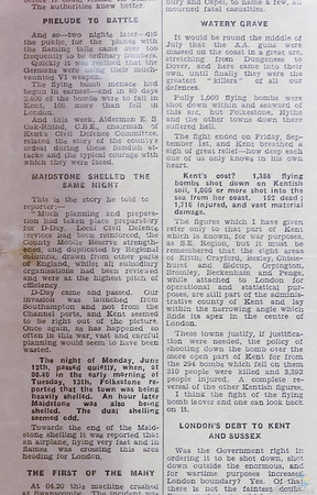 2400 fly bombs fell in Kent article. Part 2 of 3.