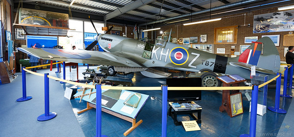 Spitfire (LF) MK XVI TB752 entered service with NO 66(F) Sqn in march 1945 and flew operational sorties against targets in Holland and Germany. It also served brieflly with 403 Sqn (RCAF). Was stored by 29 MU and returned to fly with NO 5 AACU at Llanbedr in 1953. The aircraft was first displayed at this station in 1955 and was restored by the medway branch of the Royal Aeronautical Society in 1979