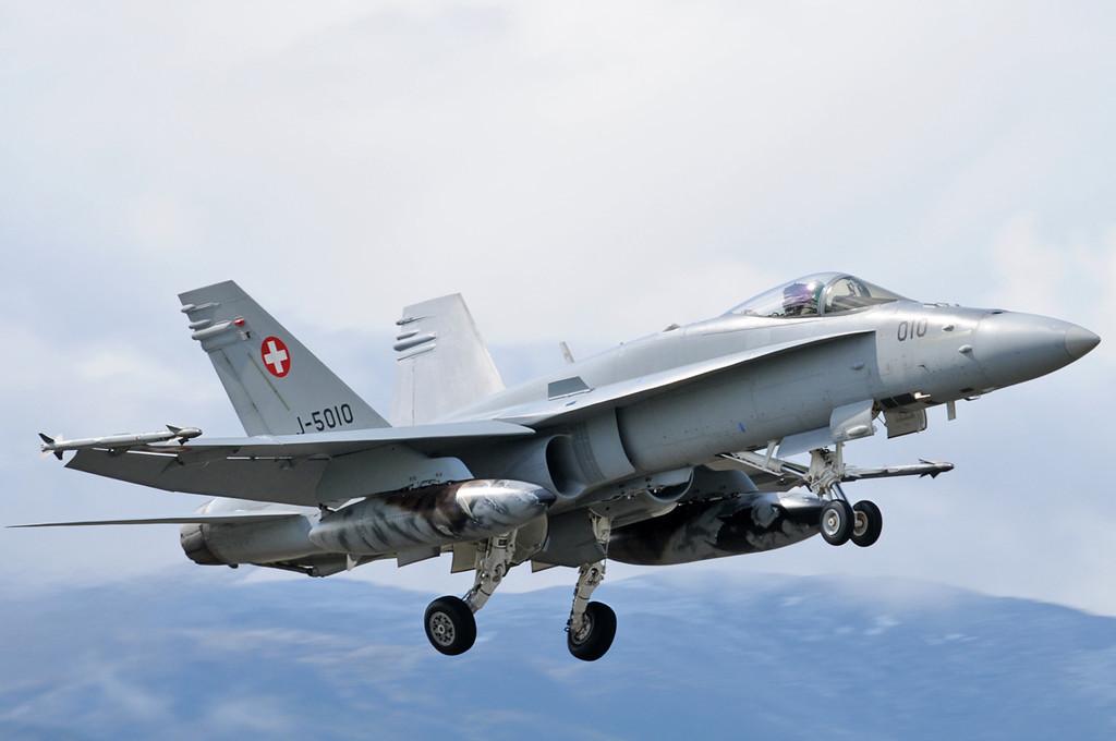 "NATO Tiger Meet at Ørland MAS (OLA/ENOL) on June 1, 2012. Swiss Air Force McDonnell Douglas F/A-18C Hornet ""J-5010"" (cn 1345/SFC 010)."