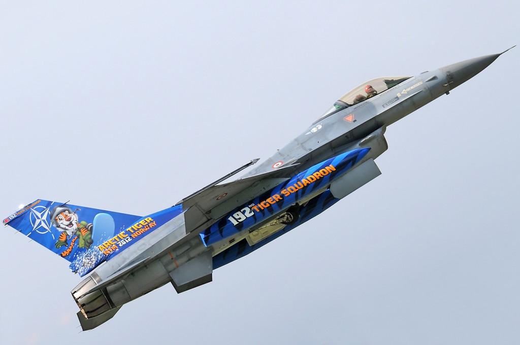 "NATO Tiger Meet at Ørland MAS (OLA/ENOL) on June 1, 2012. Turkish Air Force Lockheed Martin F-16C ""94-0090"" (cn HC-54/94-0090). Operated by 192 Filo ""Tiger squadron"" based at Balikesir AB."