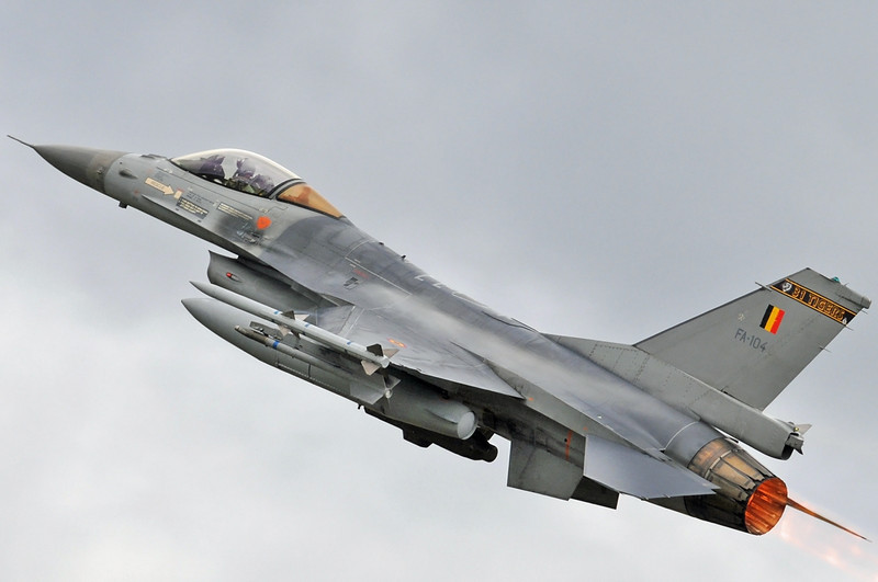 NATO Tiger Meet at Ørland MAS (OLA/ENOL) on June 2, 2012. Belgian Air Force General Dynamics (SABCA) F-16AM Fighting Falcon (cn 6H-104/87-0048). Operated by 31 Smaldeel at Kleine Brogel AB.