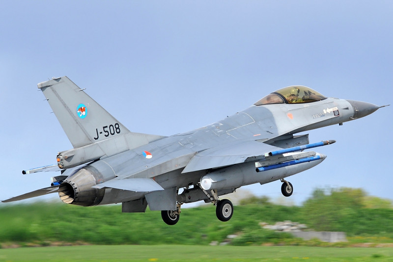"NATO Tiger Meet at Ørland MAS (OLA/ENOL) on June 1, 2012. Royal Netherlands Air Force General Dynamics F-16AM ""J-508"" (cn 6D-147/87-0508). Operated by 313 Squadron at Volkel AB."