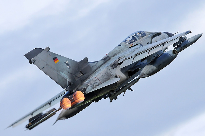 "NATO Tiger Meet at Ørland MAS (OLA/ENOL) on June 1, 2012. Deutsche Luftwaffe Panavia Tornado ECR ""46+25"" (cn 821/GS258/4325)."