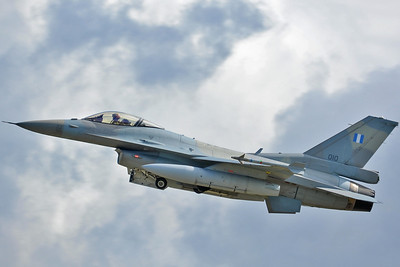 "NATO Tiger Meet at Ørland MAS (OLA/ENOL) on June 20, 2013. Hellenic Air Force Lockheed Martin (LM Aero) F-16C Block 52+ Fighting Falcon ""010"" (cn WJ-10/06-0010). Operated by 335 Mira ""Tigris (Tigers)"" based at Araxos AB."