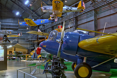 National Museum of the United States Air Force, Dayton, Ohio,   04/12/2019  Martin YB-10, C/N: 514 33-146,  Ryan YPT-16 (STA) c/n 312  40-0044 Fairchild PT-19A-FA Cornell  C/N: TA42-3589  42-34023  painted as 41-14666  This work is licensed under a Creative Commons Attribution- NonCommercial 4.0 International License.