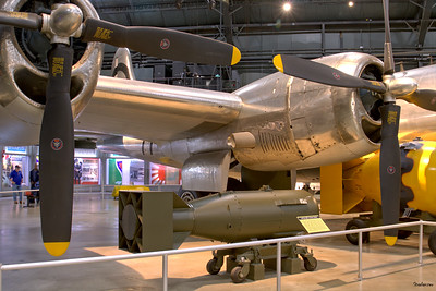 """National Museum of the United States Air Force, Dayton, Ohio,   04/12/2019  Boeing B-29 Superfortress """"Bockscar""""  C/N: 3615 44-27297,  Weapon delivery aircraft used in atomic bombing on Nagasaki.  This work is licensed under a Creative Commons Attribution- NonCommercial 4.0 International License."""