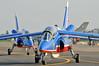 Radom Air Show at Radom-Sadkow (EPRA) on August 27, 2011. Patrouille de France Dassault-Dornier Alpha Jet F-RCAI/5 (cn E117).