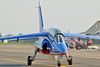 Radom Air Show at Radom-Sadkow (EPRA) on August 27, 2011. Patrouille de France Dassault-Dornier Alpha Jet E F-UGFF/1 (cn E85).