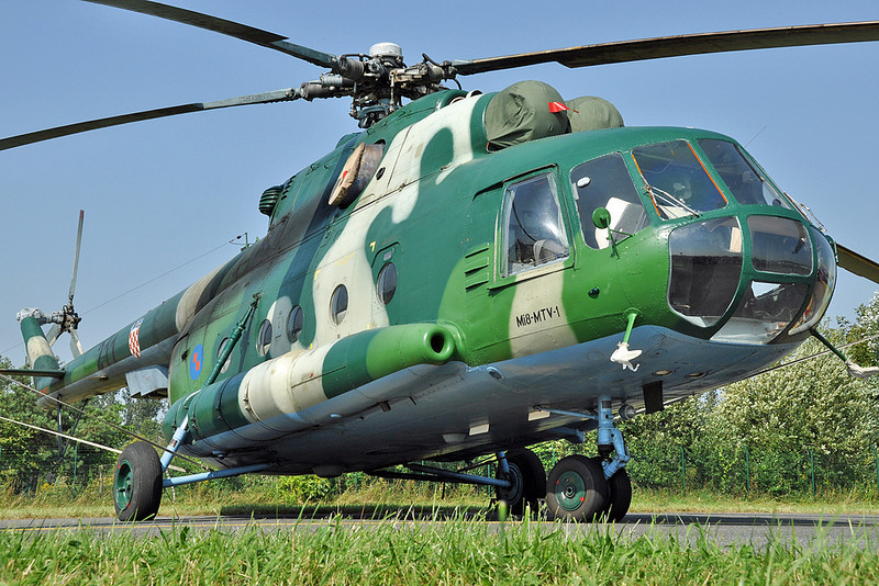 "Radom Air Show at Radom-Sadkow (EPRA) on August 27, 2011. Croatian Air Force Mil Mi-8MTV-1 Hip-H ""211"" (cn 96053)."