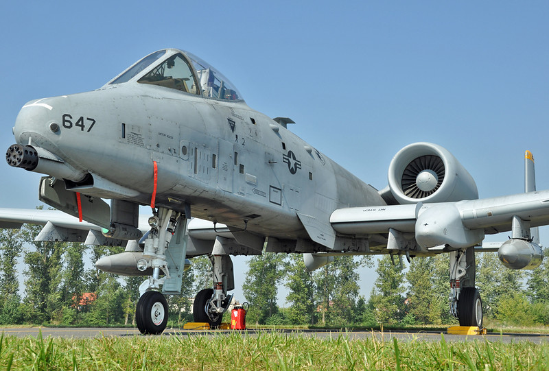 "Radom Air Show at Radom-Sadkow (EPRA) on August 27, 2011. USAFE Fairchild A-10C Thunderbolt II ""81-0647/SP"" (cn 82-0647/A10-0695)."