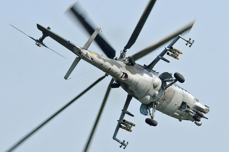 "Radom Air Show at Radom-Sadkow (EPRA) on August 27, 2011. Czech Air Force Mil Mi-35 Hind-E ""3369"" (cn 203369)."