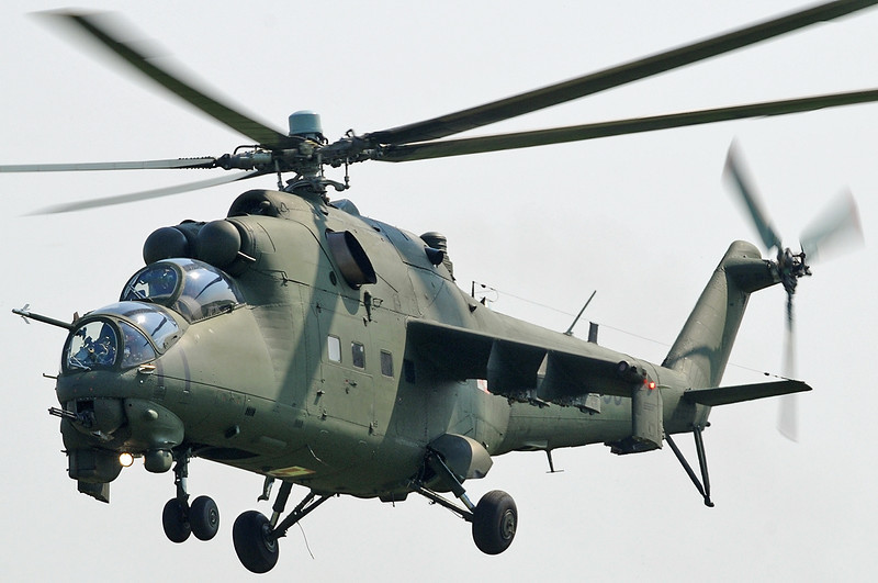 "Radom Air Show at Radom-Sadkow (EPRA) on August 27, 2011. Polish Land Forces Aviation Mil Mi-24D Hind-D ""456"" (cn 410456)."