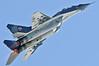 Radom Air Show at Radom-Sadkow (EPRA) on August 27, 2011. Polish Air Force MiG-29UB (izdeliye 9.51) Fulcrum-B (cn 14615).