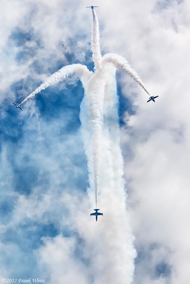 Black Diamond jet team. Ocean City, MD 2012 Airshow.