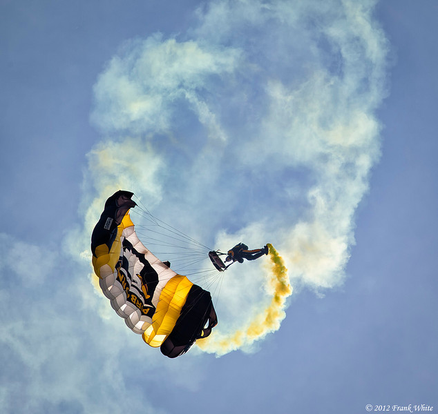 101st Airborne parachute jumpers. Ocean City, MD 2012 Airshow.