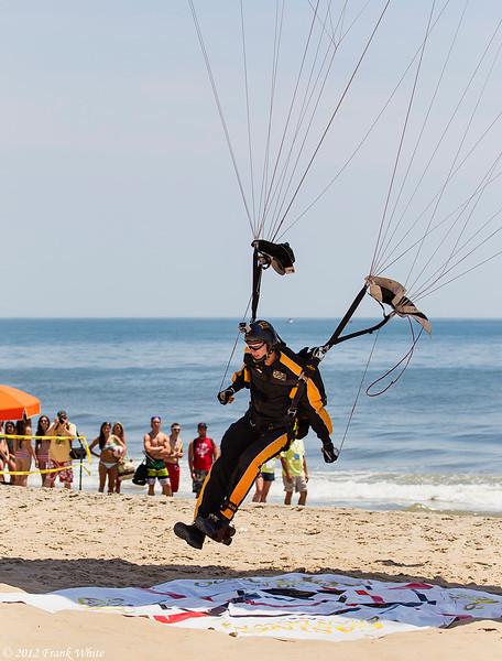 101st Airborne parachute jumper. Ocean City, MD 2012 Airshow.