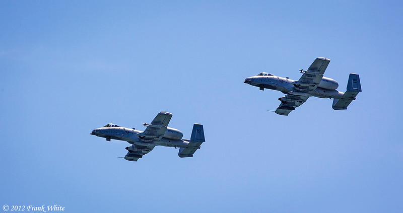 A-10 Warthog flyby. Ocean City, MD 2012 Airshow.