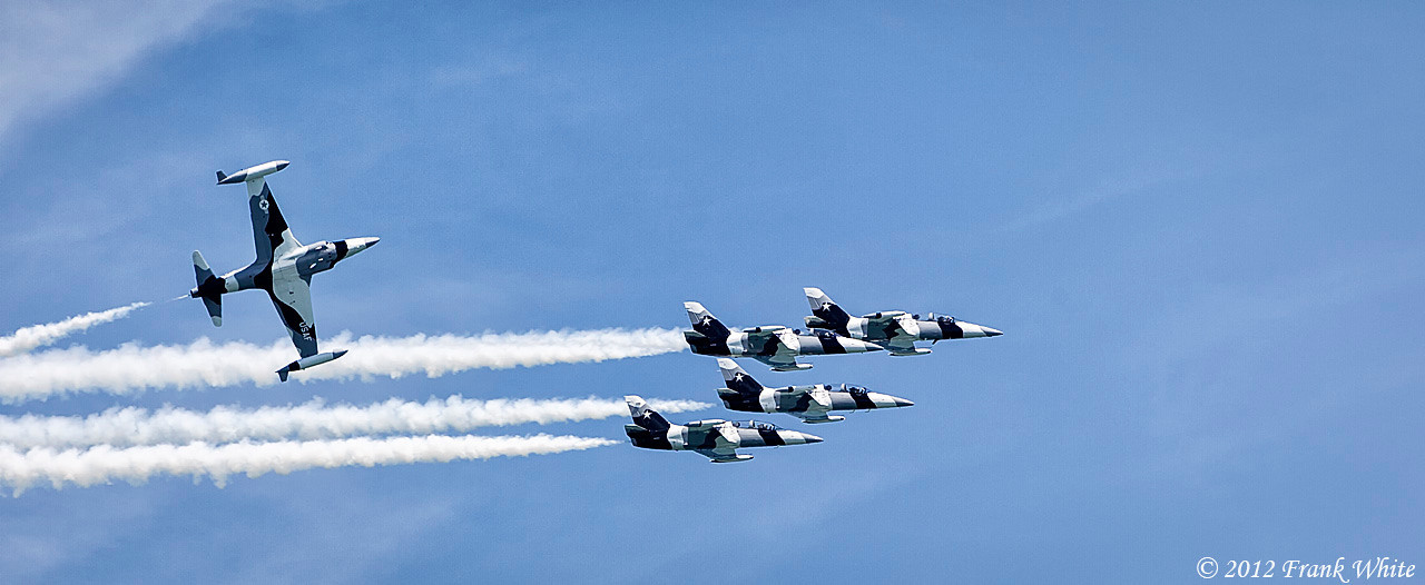Black Diamond jet team. Ocean City, MD 2012 Airshow.