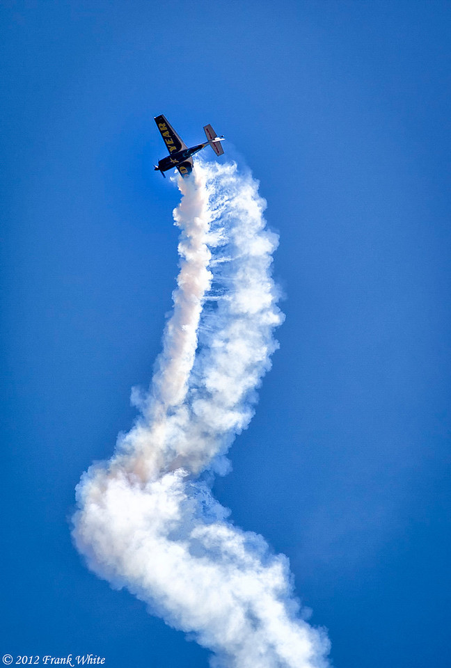 Michael Goulian flying an Extra 330 SC aerobatic aircraft. Ocean City, MD 2012 Airshow.
