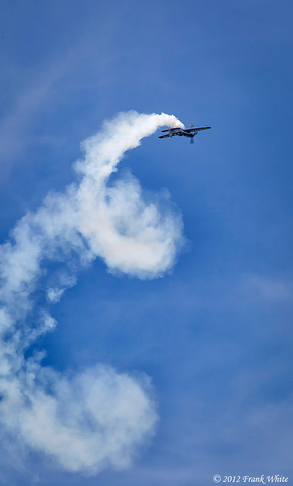 Michael Goulian flying a Extra 330 SC aerobatic aircraft. Ocean City, MD 2012 Airshow.