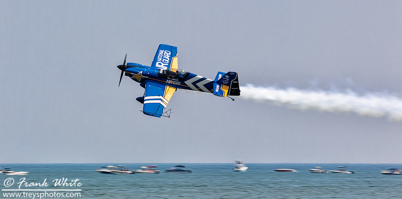 John Klatt aerobatic performance along the beach