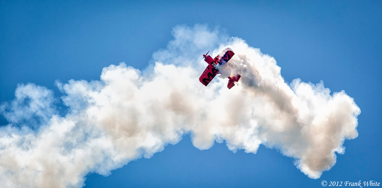 Mike Wiskus in the Lucas Oil Pitts Special aerobatic biplane. Ocean City, MD 2012 Airshow.