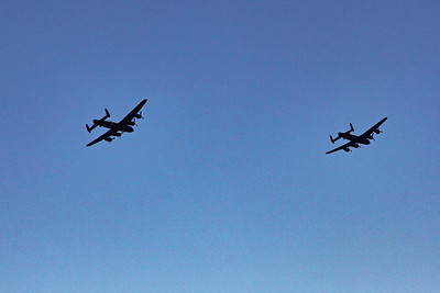 Still in the turn they are heading for Prestwick and a flypast.