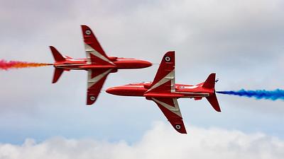 BAe, British Aerospace, Hawk T1, Opposition Pass, RIAT 2015, Red Arrows