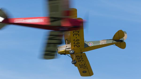 DE-992, DH-82A, De Havilland, Display Team, G-ANEN, Opposition Pass, Shoreham 2015, Special, Tiger Moth, Tiger Nine Formation Team
