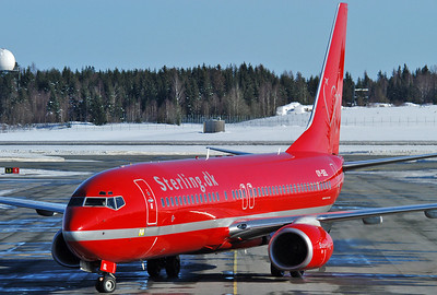 Oslo Airport Gardermoen (OSL/ENGM) on March 12, 2006. Sterling Airlines Boeing 737-8BK OY-SEL (cn 33018/1488).