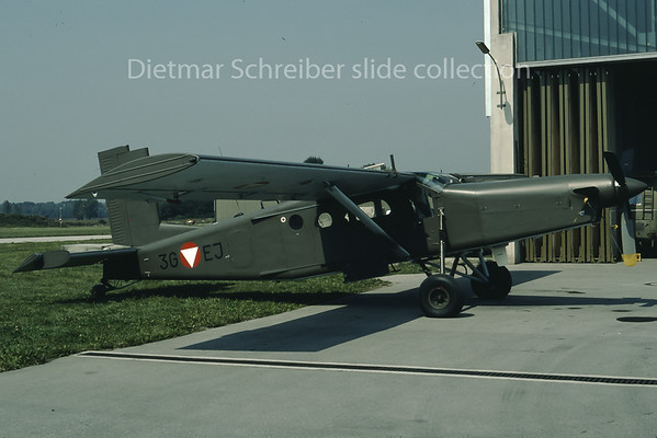 1980-08 3G-EJ Pilatus PC6 Austrian Air Force
