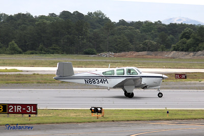 Beech S35 Bonanza  c/n D-7352   N8834M Pilots Discretion LLC, Atlanta, GA  KPDK, DeKalb, GA,   05/28/2017 This work is licensed under a Creative Commons Attribution- NonCommercial 4.0 International License