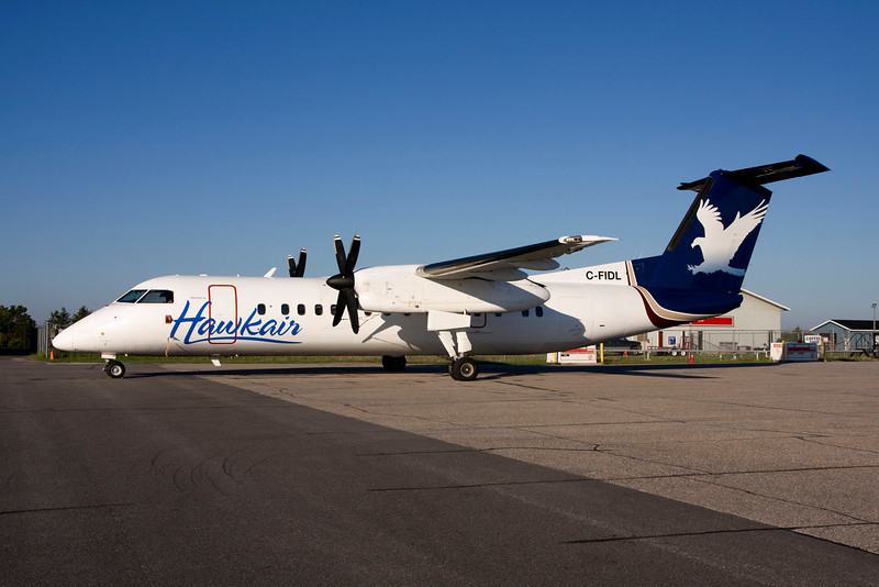 A Hawk Air Dash - 8 spent the night in Dryden after bringing home some MNR firefighters.