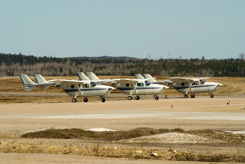Another trio of Cessna 337's, C-FIGS, C-FSIY AND C-GWDU.