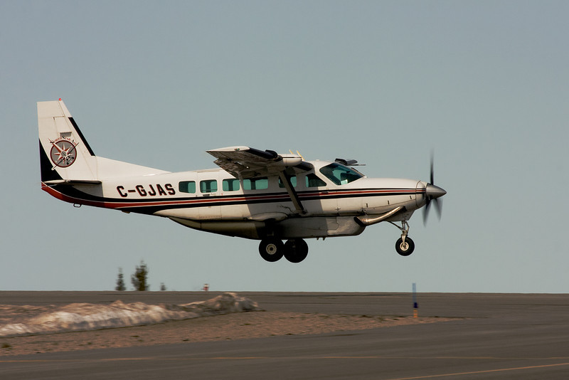 North Star Air (Pickle Lake, Ontario) takes off from run way 11 at the Dryden Airport in a Cessna 208 Caravan.