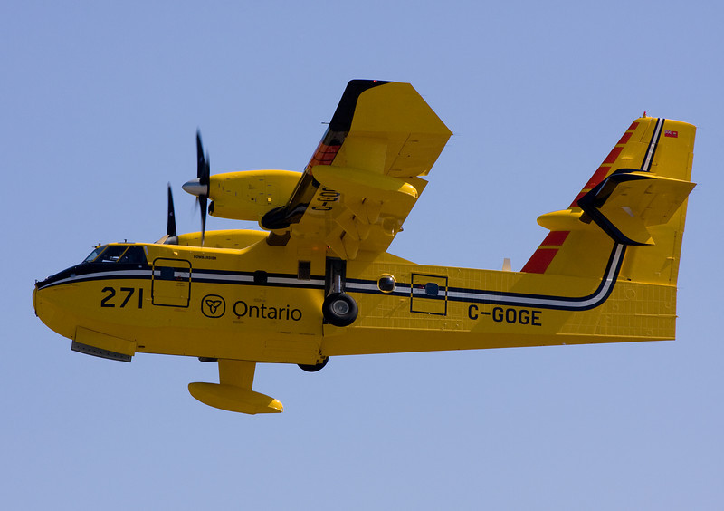 Spring has sprung in the Dryden area. Today up to four CL-415's where out flying today doing some training flights.