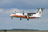 Air Creebec leaving Dryden on runway 29 in a Dash 8