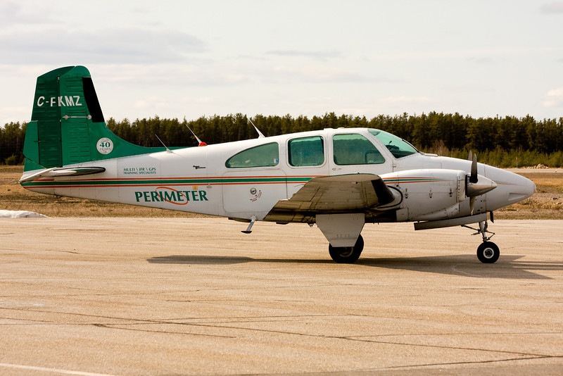 Perimeter Aviation Ltd. was in Dryden this day with a Beech E95.<br /> <br /> Unless you have a huge screen, X2large is the best large size to view this at.