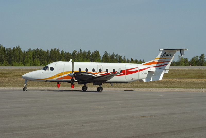 A Beech 1900D from Airco Aircraft Charters Ltd. of Edmonton was in town today.