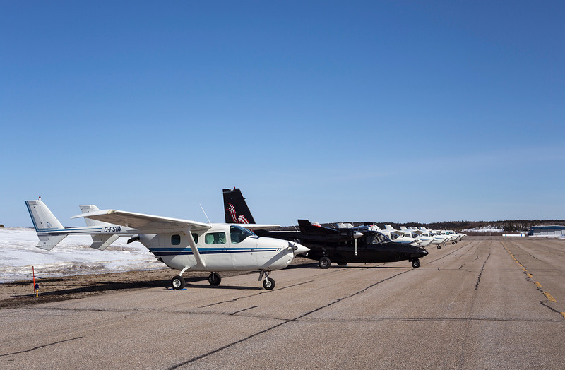 99 of 365 (Black Sheep of the family)<br /> <br /> Fleet of aircraft owned by Discovery Air Services sitting waiting for spring.