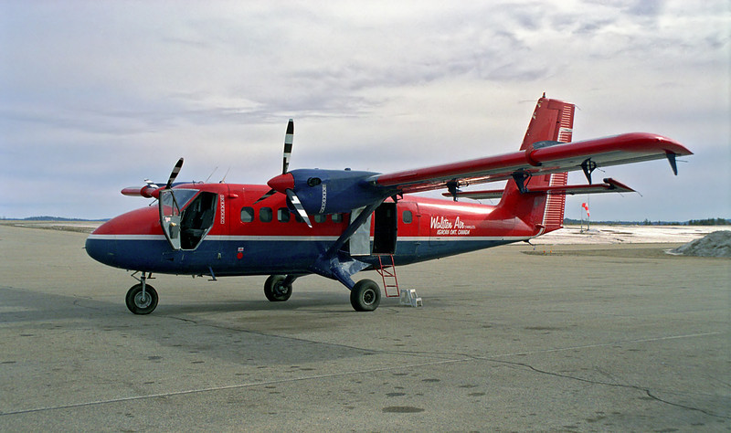 Walsten (of Kenora, Ontario) is in Dryden with a Dehavilland DHC-6  (s/n 96).