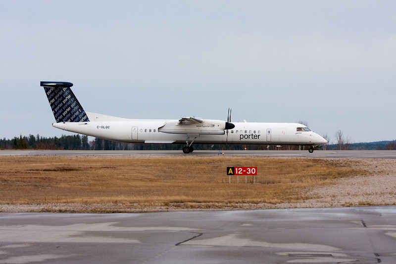 Due to weather, Porter Airlines had to divert to Dryden in this Dehavilland DHC-8-402. While here they fueled up. By the time the refueling was done the weather was better so they were able to head back. <br /> <br /> This is the first time Porter had been in Dryden.