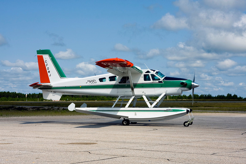 Melaire Ltd. of Fort Frances Ontario landed in Dryden in this Turbo Beaver for some fuel.