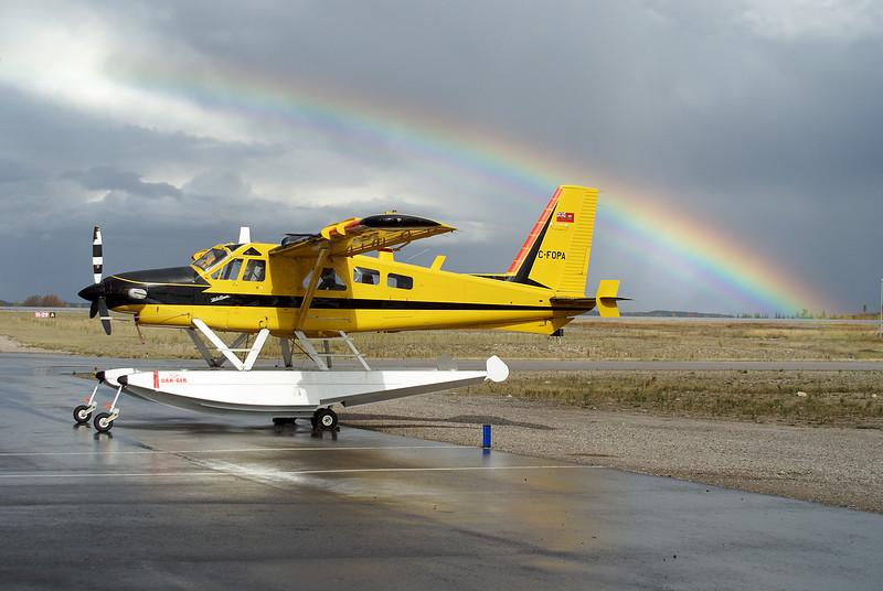 A Dehavilland DHC-2 MK. III (Turbo Beaver) on floats on the Dryden ramp.