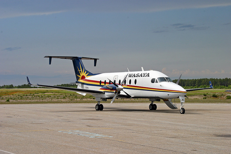 A Beech 1900D operated by Wasaya Airways