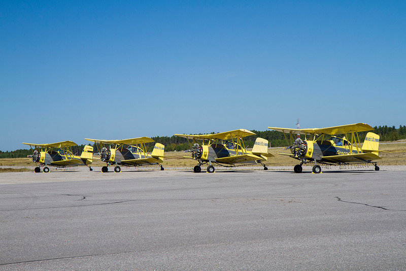 September of 2011, General Airspray came to Dryden in these bi-planes.