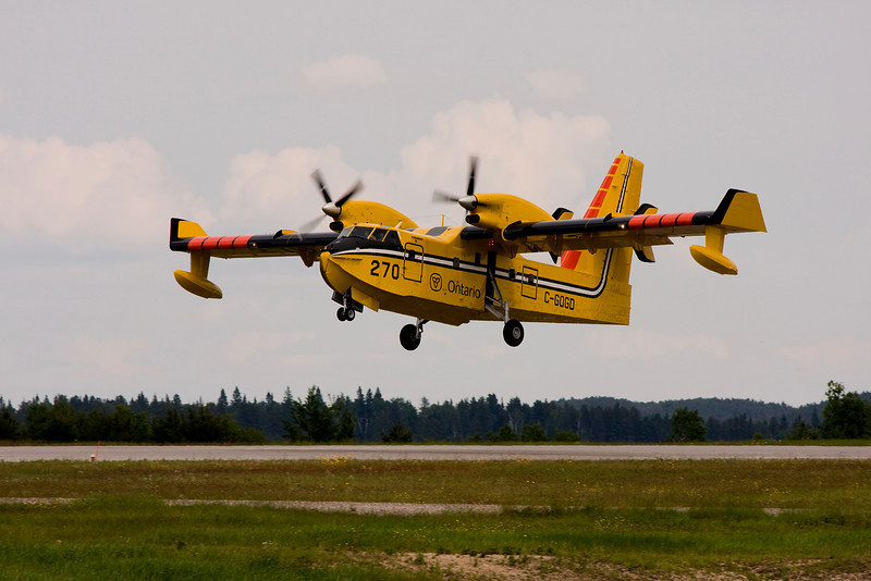 Tanker 270 heading to Red Lake Ontario.<br /> <br /> (photo taken at the Dryden airport)