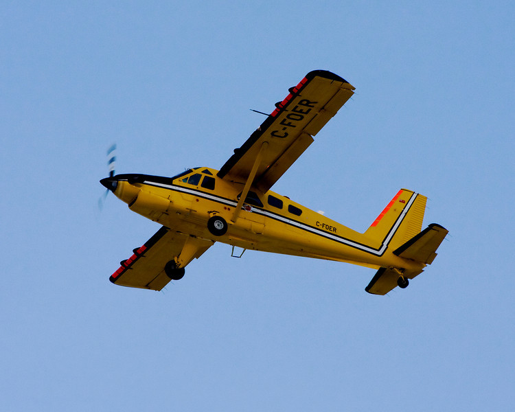 While I was waiting for a CAF C-130 Hercules, this  Dehavilland DHC-2 MK. III takes off from runway 30 at the Dryden airport.