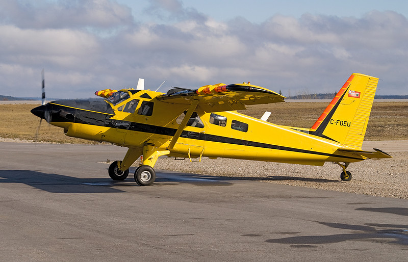 C-FOEU, a Dehavilland DHC-2 MK. III sits on the ramp at the Dryden Ontario ramp before leaving for BC.